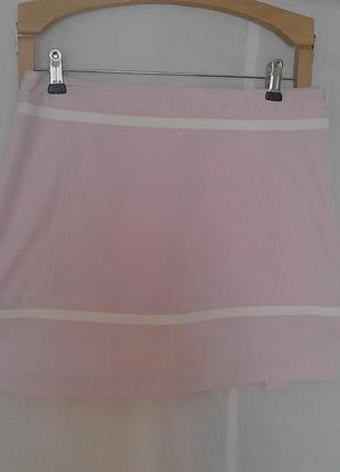 Юбка для спорта,внутри шорты,карманы,на молнии,розовая adidas