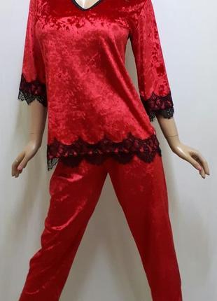 Домашний велюровый костюм