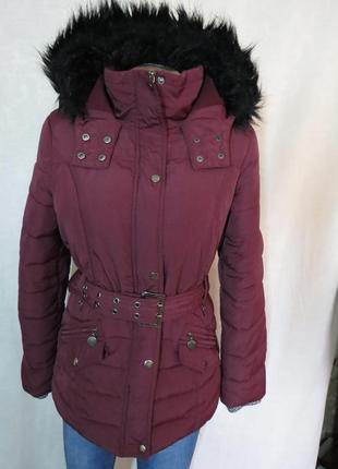 Теплая зимняя курточка куртка с капюшоном