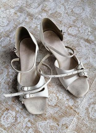 Туфли босоножки для бальников (для занятий бальными танцами)