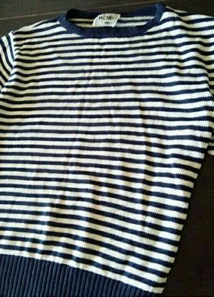 Полосатый свитер свободного кроя