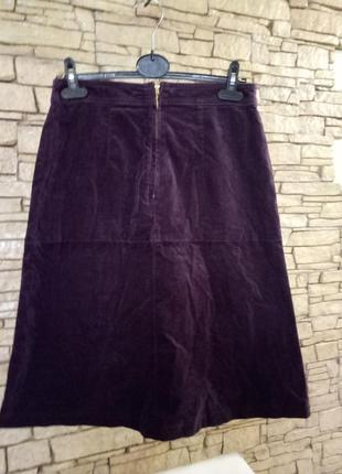 Велюровая юбка цвета марсала2 фото