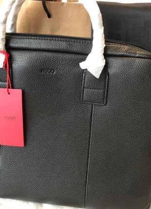 Мужской портфель для ноутбука и документов hugo boss
