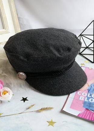 Женская модная кепка, стильный серый картуз