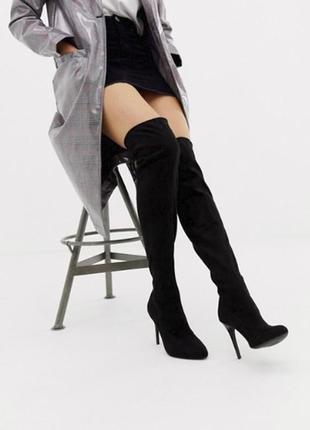 Шикарные ботфорты на каблуке эксклюзивно от asos