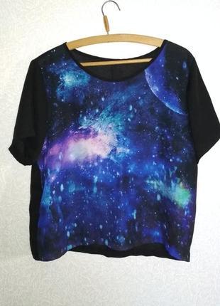 Блуза футболка космос галактика