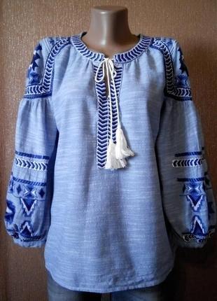 Блузка вышиванка размер 10-12 next