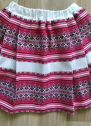 Юбка - вышиванка для девочки 3-10  лет