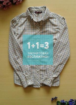 ♤ акция 1 + 1 = 3 ♤ рубашка в клетку zara trafaluc, длинный рукав, s, 100% хлопок