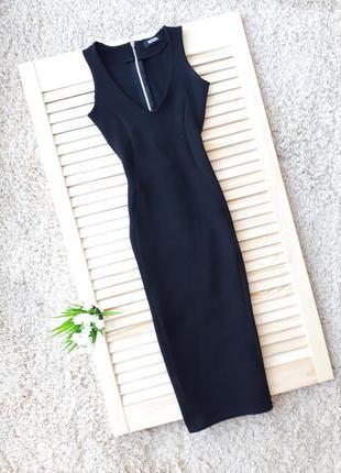Шикарное черное платье миди missguided