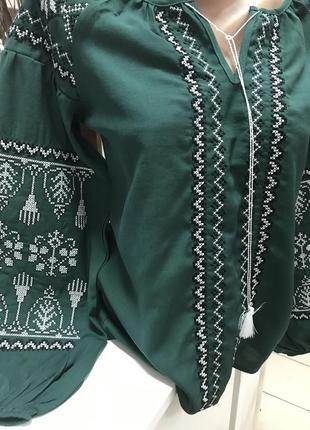 Блуза бохо с вышивкой вышиванка вишиванка