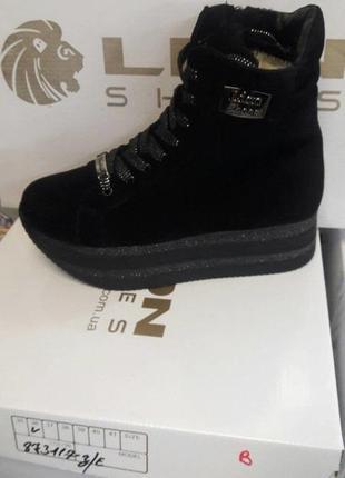 Зимние ботиночки на плотформе.. натуральная замша..36-41