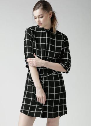 Легкое платье в клеточку new look