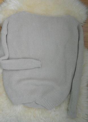 Свободный свитер с вырезом boohoo