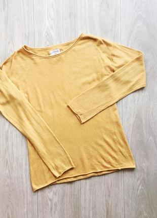 Уютный жёлтый свитер оверсайз от h&m размер m-s-xs