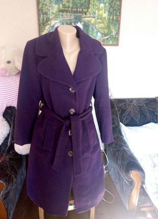 Пальто тёплое шерстяное р 16, 80% шерсть
