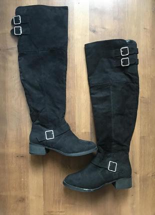 Стильные черные высокие ботфорты fiore 38pp fiore matalan