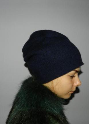 Женская шапка двухсторонняя кашемировая.монголия.83/73