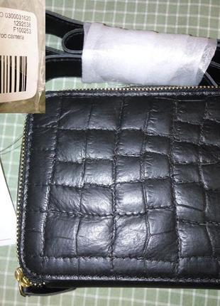 Сумка asos натуральная кожа,новая,с бирками,в упаковке,длинная ручка