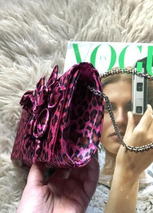 Двухсторонняя сумка,клатч c самым модным принтом леопард бренда  suzy smith (англия)