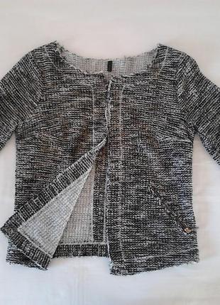 Нарядный пиджак  кофта кардиган с люрексом, в стиле шанель chanel