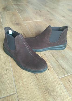 Шикарные ботинки inblu инблу. натуральный замш.  р. 39 , 40