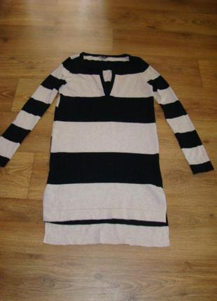 Длинний свитер туника платье