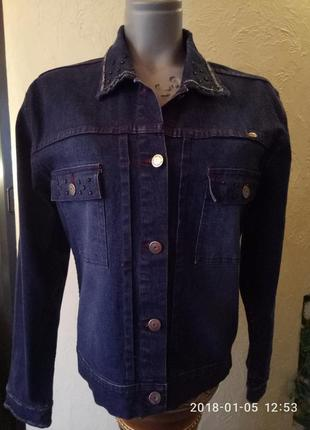 Распродажа!тренд 2018! вышивка на джинсе peter colding оригинал 46-48 р