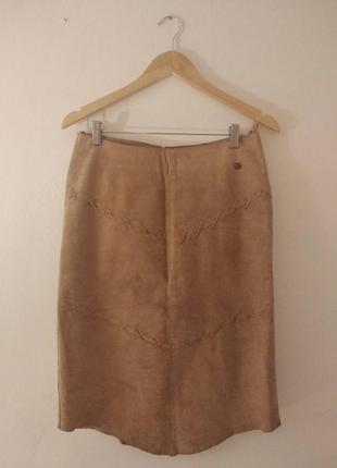 Распродажа! юбка из натуральной замши/ юбка карандаш м
