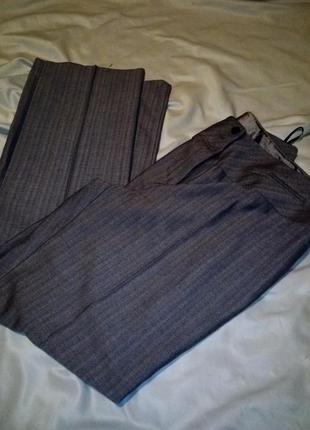 Осенние брюки высокая посадка прямой крой