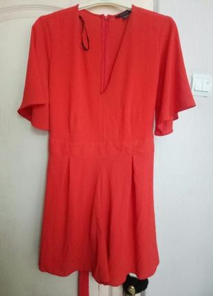 Комбинезон с шортами, ромпер красный