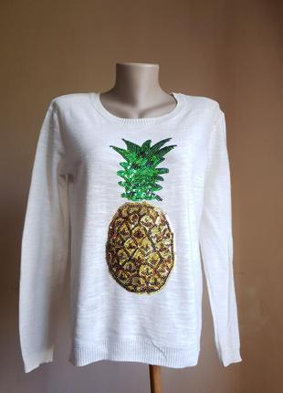 Стильный пуловер свитер хлопок springfield сша