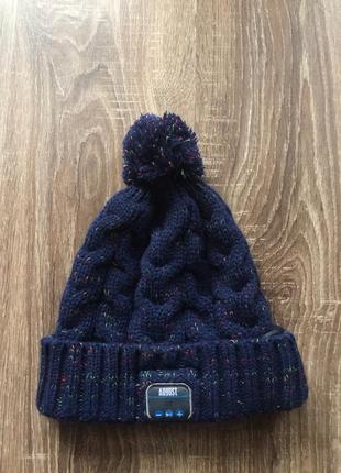 Зимняя шапка с блютуз наушниками