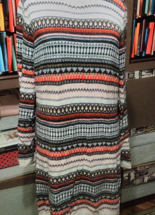 Длинный свитер туника короткое платье