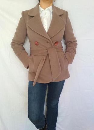 Стильное шерстяное пальто,р.38 vivalon
