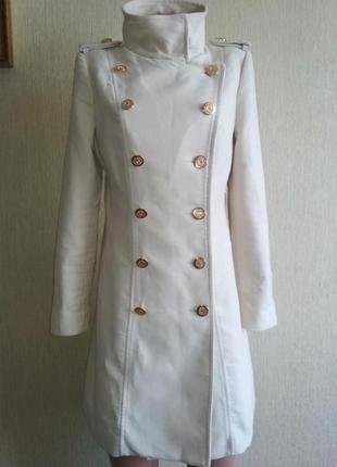 Брендовое стильное пальто шинель,р.38