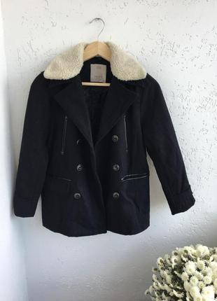 Zara пальто,парка,куртка,зимняя,зима,с мехом,чёрная