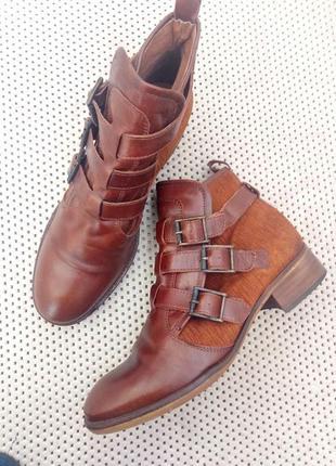 Кожаные ботинки bertie 40-41р. демисезон, натуральные