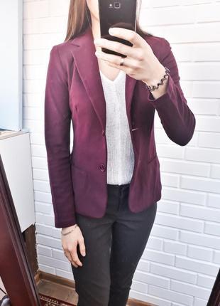 Стильный пиджак жакет цвет марсала.итальянская премиум марка piu&piu
