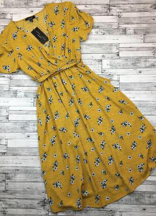Платье в цветочный принт цветы new look