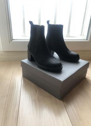 Ботинки тз плотного нубука