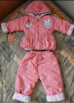 Деми костюм для девочки, р. 80-86
