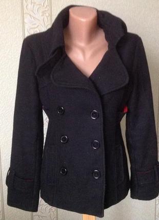 Короткое чёрное пальто tally weijl tally weijl