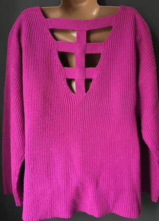 Вязанный женский свитер оверсайз oversize