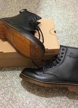 Зимние ботинки с мехом  dr martens 1460 black smooth 37-44 размер