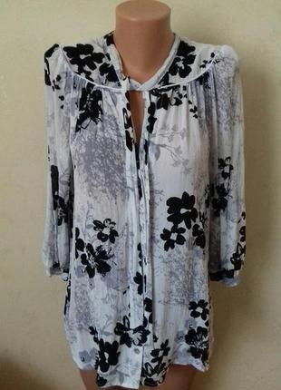 Красивая блуза с принтом f&f