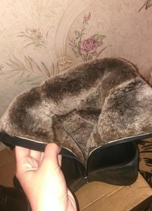 Кожаные теплющие сапоги на цигейке2 фото