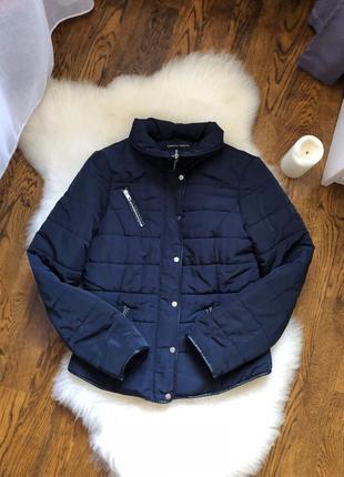 Курточка осенняя/ зимня, темно-синяя / синяя/ короткая