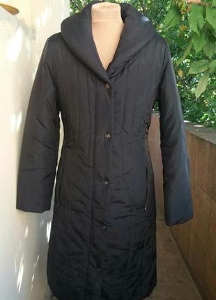 Женское пальто черное стеганое на синтепоне  south.