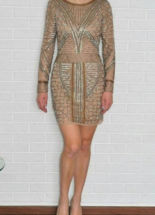 Платье вышитое биссером